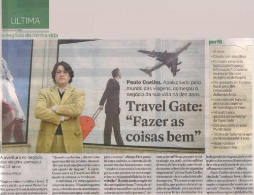 """TRAVEL GATE """"Fazer as coisas bem"""" – Jornal Diário de Noticias de 01  Fevereiro de 2008"""