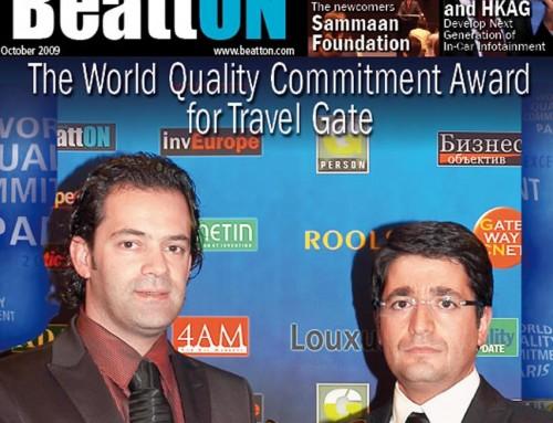 TRAVEL GATE capa da revista BeattON